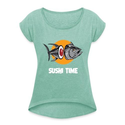 SUSHI TIME-tonno-b - Maglietta da donna con risvolti