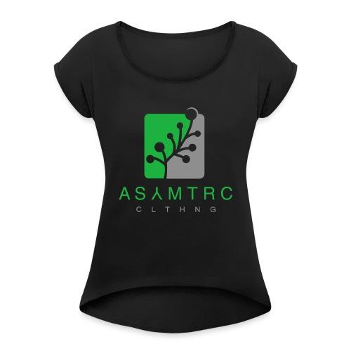 Asymetric Clothing - Imperfection at it's finest - Frauen T-Shirt mit gerollten Ärmeln