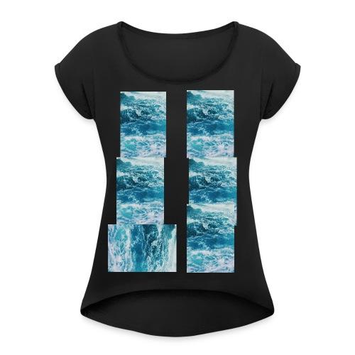 cropped_header_1440703086 - Frauen T-Shirt mit gerollten Ärmeln