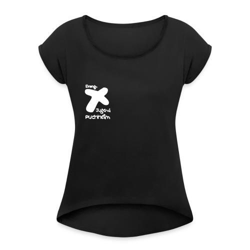 ejp klein - Frauen T-Shirt mit gerollten Ärmeln