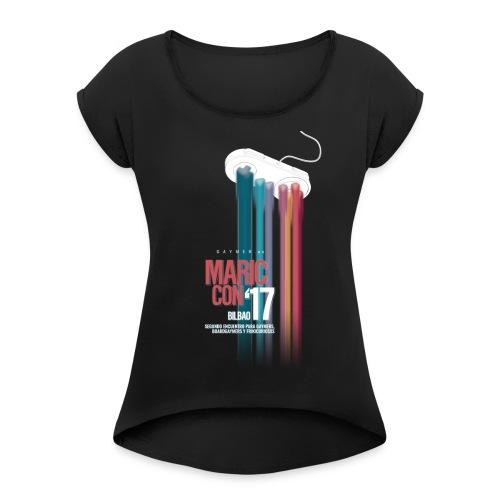 Logo MaricCon 2017 - Camiseta con manga enrollada mujer