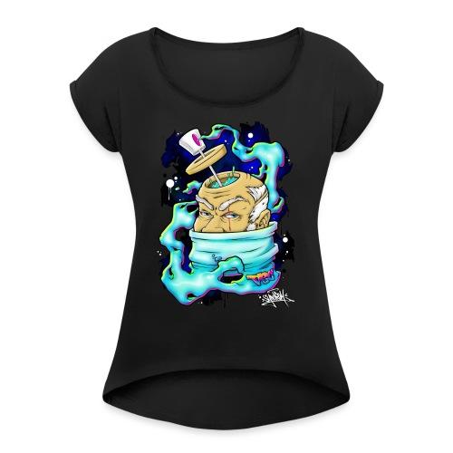 Spray Genius - Graffiti character design - T-shirt à manches retroussées Femme