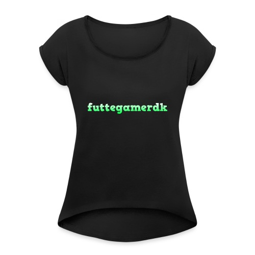 futtegamerdk trøjer badge og covers - Dame T-shirt med rulleærmer