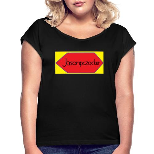 Jasonpczocker Design für gelbe Sachen - Frauen T-Shirt mit gerollten Ärmeln