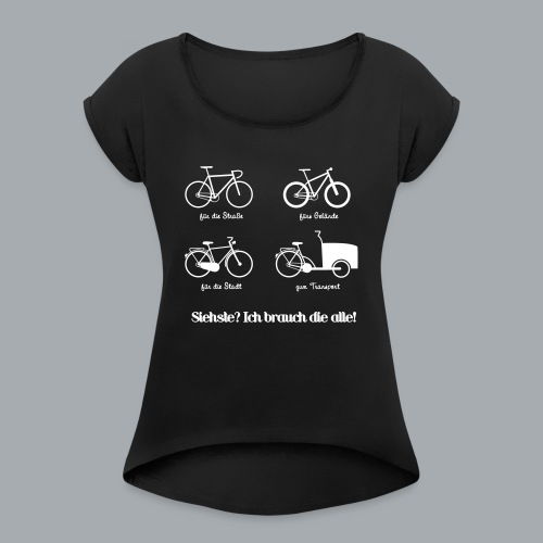 Bikepark - Frauen T-Shirt mit gerollten Ärmeln