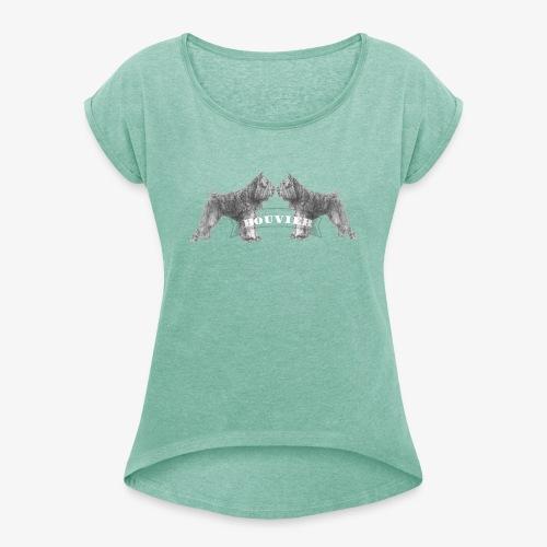 Bouvier 2 - Vrouwen T-shirt met opgerolde mouwen