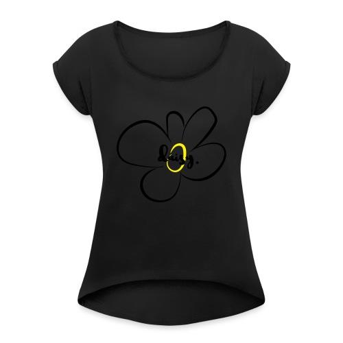 Gänseblümchen - Frauen T-Shirt mit gerollten Ärmeln