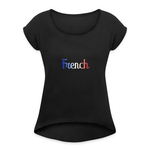 French - T-shirt à manches retroussées Femme