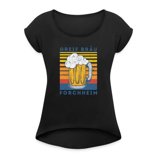 logo 2 - Frauen T-Shirt mit gerollten Ärmeln