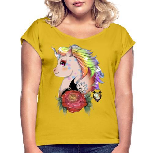 licorne kawaii - T-shirt à manches retroussées Femme