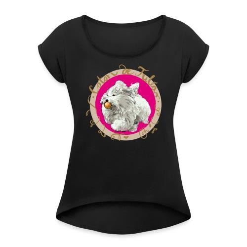 Coton Action - Frauen T-Shirt mit gerollten Ärmeln