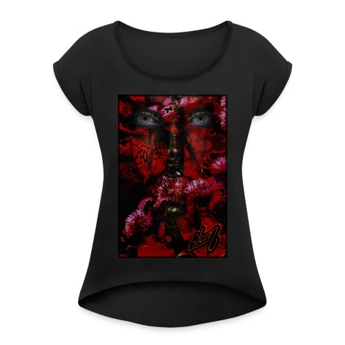 La femme de la nature - T-shirt à manches retroussées Femme