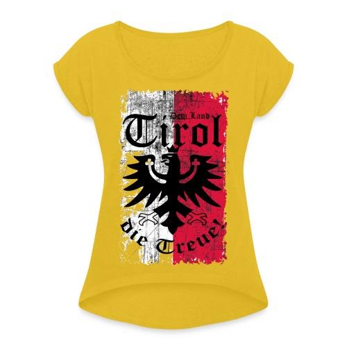 Tirol - Frauen T-Shirt mit gerollten Ärmeln