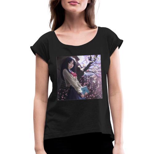 Manga - T-shirt à manches retroussées Femme