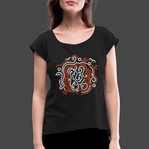 Moksha - Frauen T-Shirt mit gerollten Ärmeln