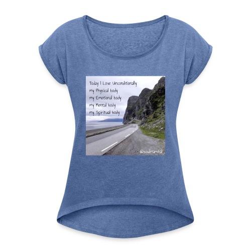 My bodys - Naisten T-paita, jossa rullatut hihat