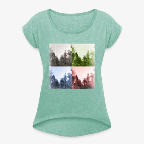 Torppa - Naisten T-paita, jossa rullatut hihat