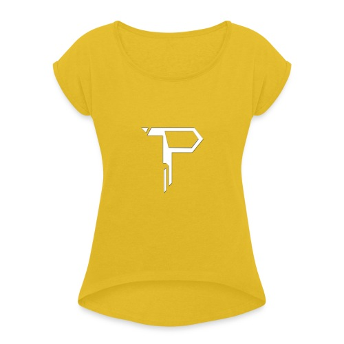 Paris Logo 2017 - Women's T-Shirt with rolled up sleeves