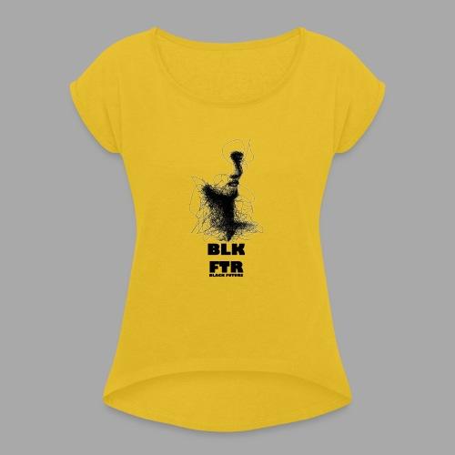 BLK FTR N°5 - Maglietta da donna con risvolti