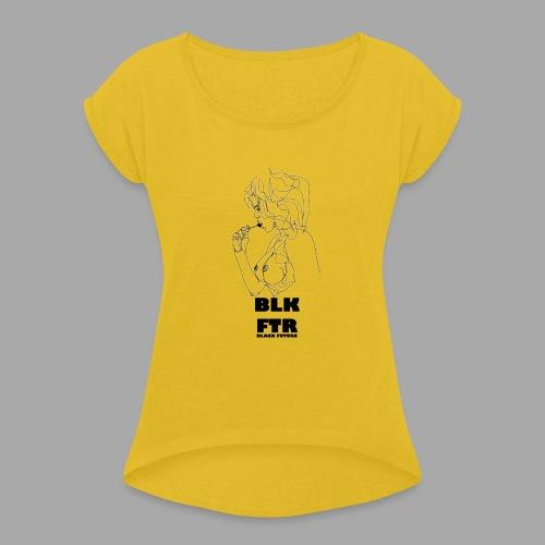 BLK FTR N°6 - Maglietta da donna con risvolti