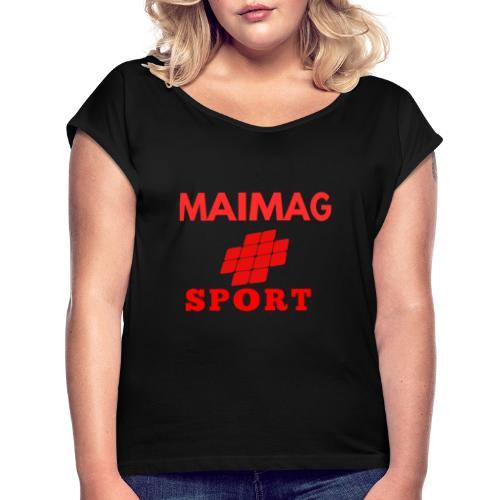 Diseños maimag - Camiseta con manga enrollada mujer