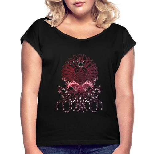 Octopus / Couleur - T-shirt à manches retroussées Femme