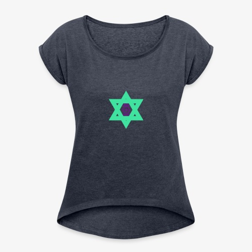 Star eye - Women's T-Shirt with rolled up sleeves