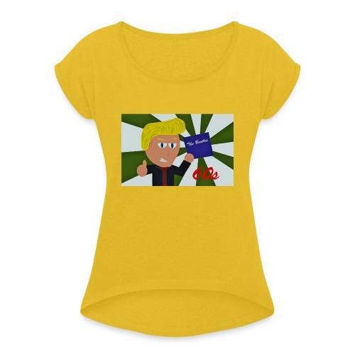 1960-luku - Naisten T-paita, jossa rullatut hihat