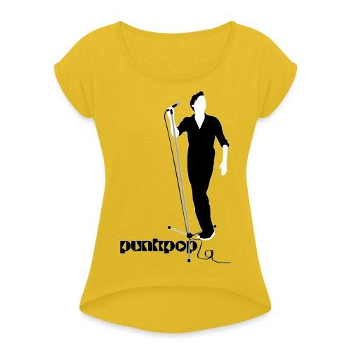 Beautiful Suede PunkPop - Maglietta da donna con risvolti
