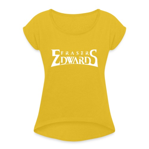 Fraser Edwards Men's Slim Fit T shirt - Women's T-Shirt with rolled up sleeves