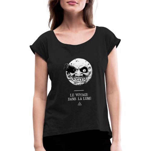 Majora: Viaje a la Luna - Camiseta con manga enrollada mujer