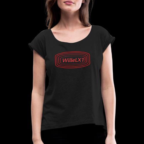 Cirkel LX1 - T-shirt med upprullade ärmar dam
