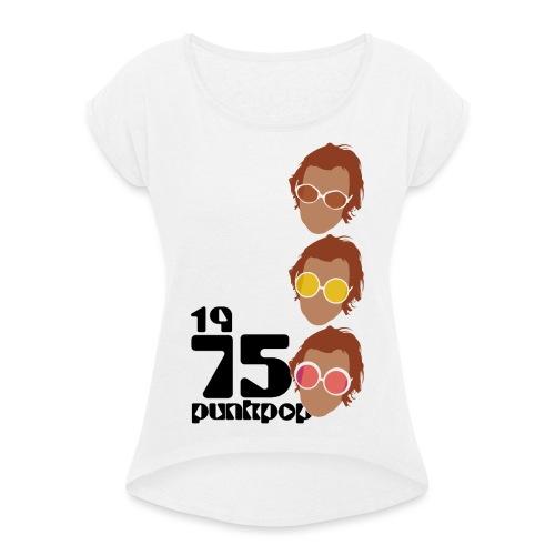 Elton PunkPop 1975 - Maglietta da donna con risvolti