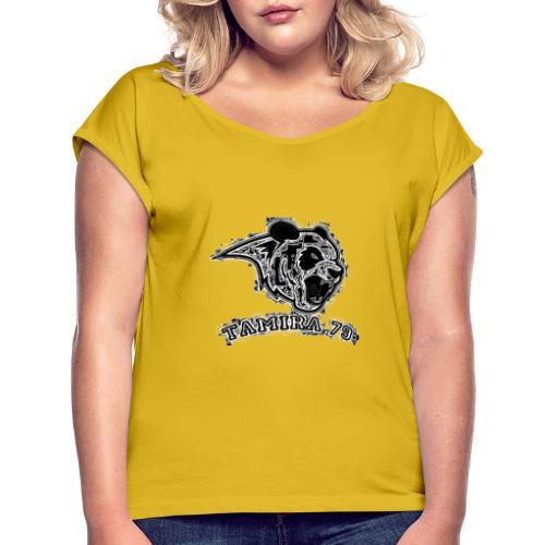 panda logo 2 - T-shirt à manches retroussées Femme