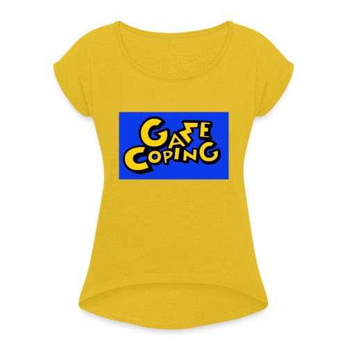 Original Game Coping Logo - Women's T-Shirt with rolled up sleeves