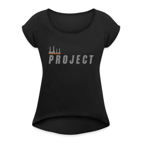 The Project, silver - Women's T-Shirt with rolled up sleeves