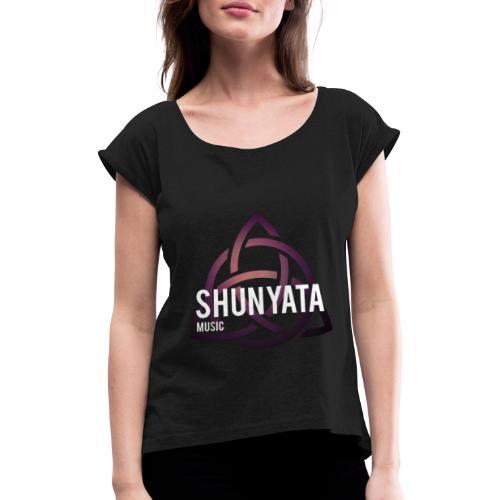 Triqueta SHUNYATA music Logo 1 - Frauen T-Shirt mit gerollten Ärmeln