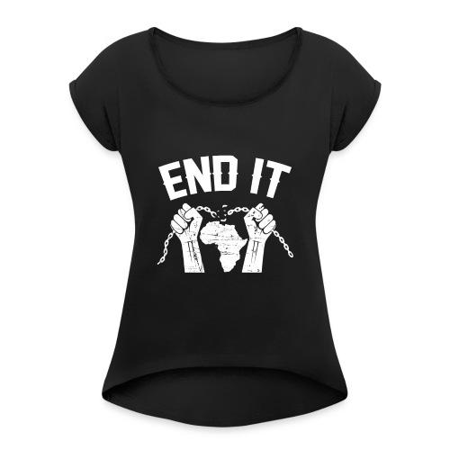 BANTU édition - T-shirt à manches retroussées Femme