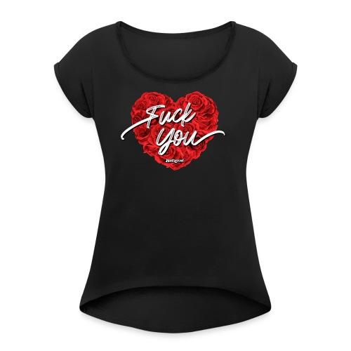 Batzer FY - Vrouwen T-shirt met opgerolde mouwen