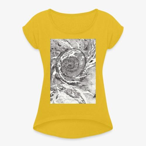 Decipher Entity by Rivinoya - Naisten T-paita, jossa rullatut hihat