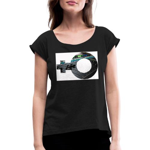 women in sound - Women's T-Shirt with rolled up sleeves