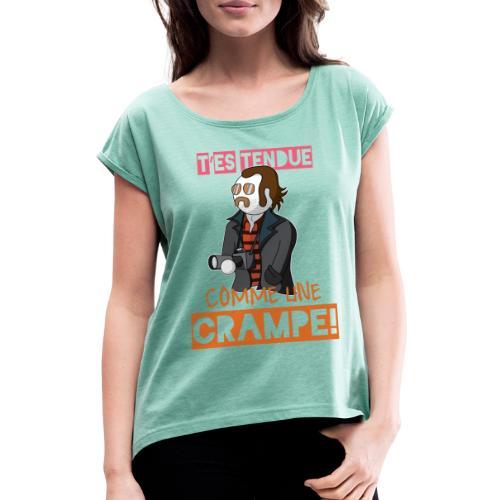 Claudy Faucan Dikkenek - T-shirt à manches retroussées Femme