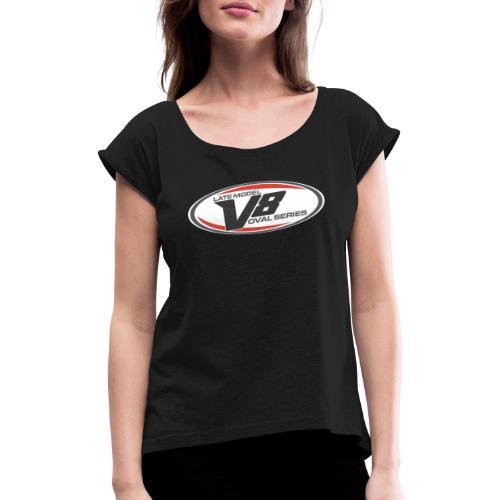 LMV8 logo - Vrouwen T-shirt met opgerolde mouwen