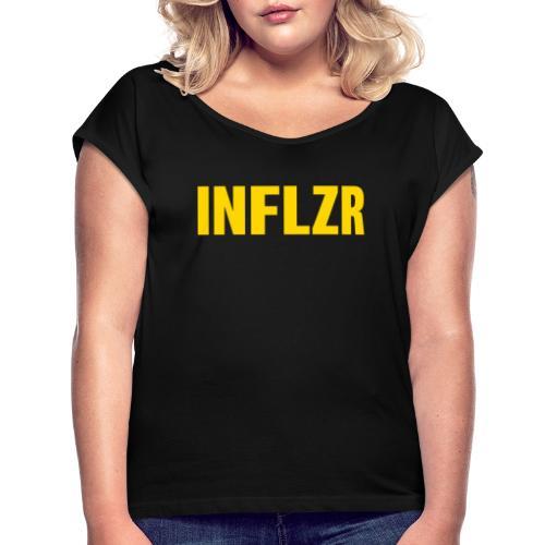 INFLZR yellow - Frauen T-Shirt mit gerollten Ärmeln