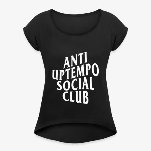 logo anti uptempo social club - T-shirt à manches retroussées Femme