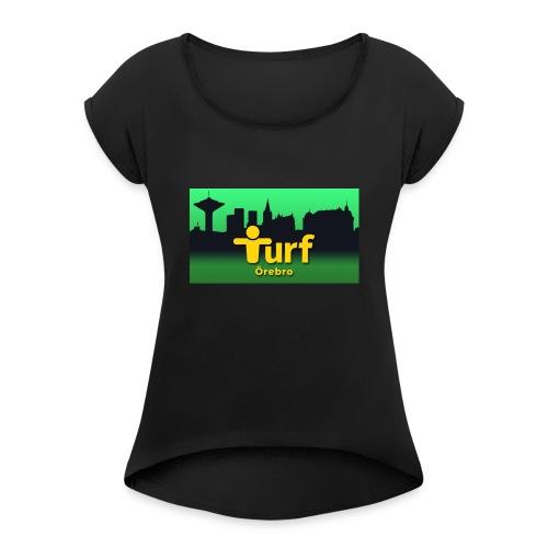 Turf Örebro - T-shirt med upprullade ärmar dam