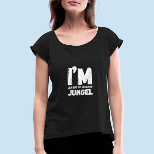 I'm Jungel Main - T-skjorte med rulleermer for kvinner