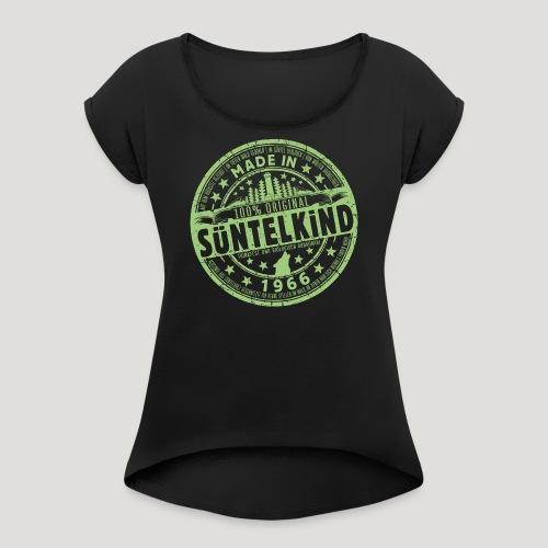 SÜNTELKIND 1966 - Das Süntel Shirt mit Süntelturm - Frauen T-Shirt mit gerollten Ärmeln