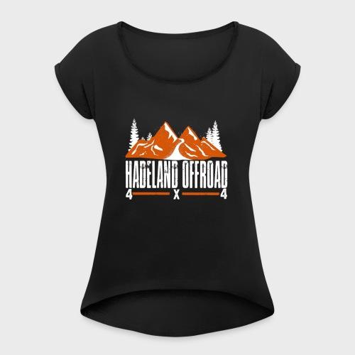 Hadeland Offroad Stor Logo Hvit - T-skjorte med rulleermer for kvinner