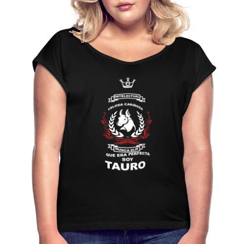 TAURO GIRLS - Camiseta con manga enrollada mujer